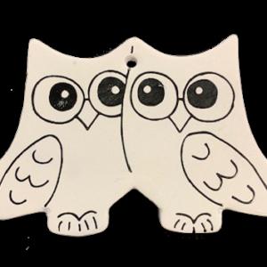 Owls Christmas ornament